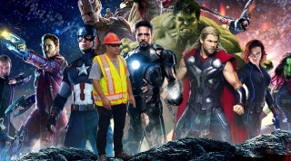 fake montage of infinity war with a cadabra's crew member